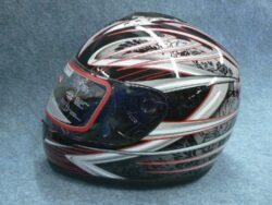Full-face Helmet FF3 - red trophy ( Motowell )
