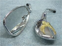 Rear view mirror assy. R.+L. oval M10x1,25 RH, MP-202 ( UNI )