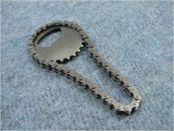 Bottle opener - chain w/ sprocket ( Louis )