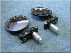 Rear view mirror assy. R.+L. circle, side ( UNI )