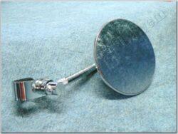 Rear view mirror circle w/ clamp, long rod ( UNI )