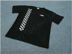 T-shirt black w/ logo MZ & checkered pattern