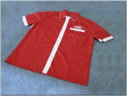košile červeno-bílá s logem JAWA - vel. L
