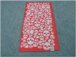 Multi-scar Comfy Skulls ( OXFORD ) red