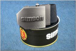 belt SIMSON / textile black - size 150cm
