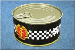 belt SIMSON / textile black checkerboard - size 150cm(930819)